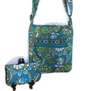 Vera Bradley Peacock Crossbody Hipster Purse